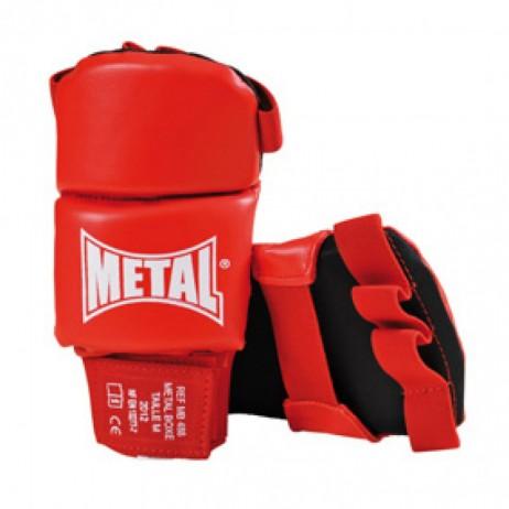 Gants Compétition JuJitsu Rouges - METAL BOXE