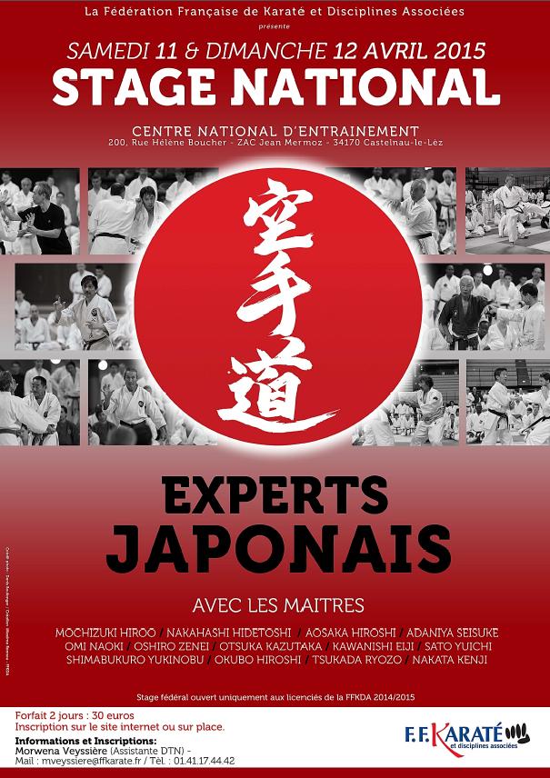 Stage National Experts Japonais 11 & 12-04-2015 Affiche
