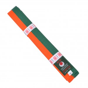 Ceinture KAMIKAZE bicolore orange-verte